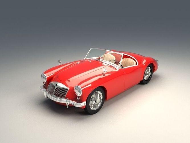 Mg Retro Car Model S Fbx 1