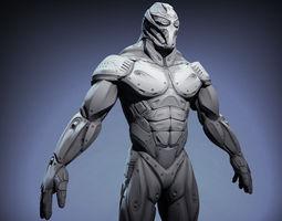 sci-fi male character 3d model