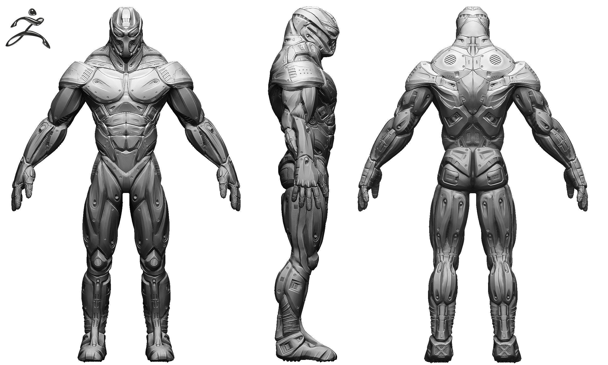 Sci Fi Male Character 3d Model Obj Ztl Cgtrader Com