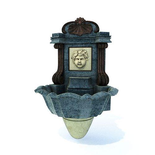 Decorative Water Fountain 3D Model