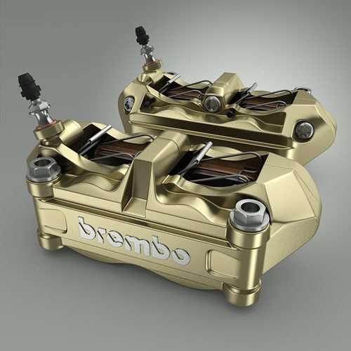 brembo brake calipers 3d model max obj mtl 3ds fbx 1