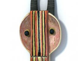 3D African Wood Mask Decoration
