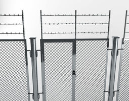 fence industrial 3D