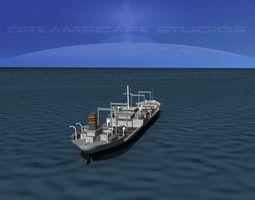 3D Tanker Ship 1940s era