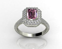 3d print model pink diamond engagement rings mrg jewelers