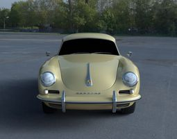 Porsche 356 Coupe HDRI 3D