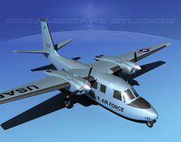 Aero Commander U-9 Air Force 3D