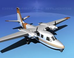 3d animated rockwell aero commander 560 v14