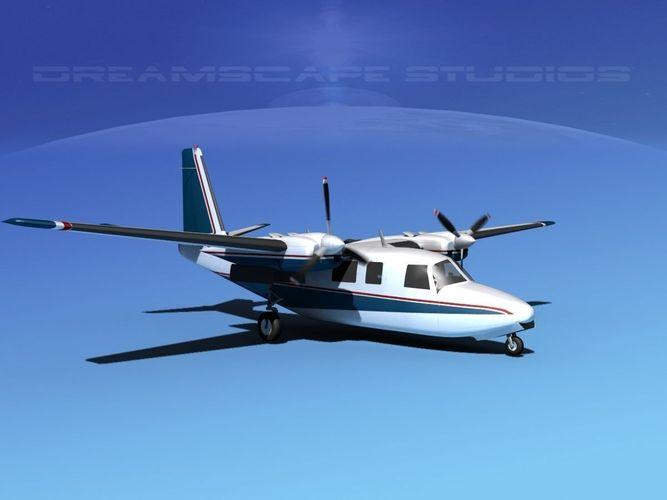rockwell aero commander 560 v17 3d model animated max obj 3ds lwo lw lws dxf dwg 1