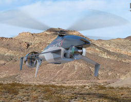 3d model sharkeye x unmanned helicopter realtime