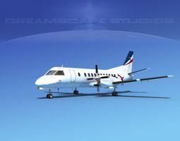 SAAB SF340 Rex Regional Express 3D model