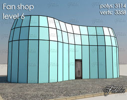 Fan Shop 3d model low-poly