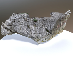 scanned white rock wall PBR realtime 3d asset