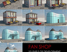 3d asset VR / AR ready fan shop all 10 levels