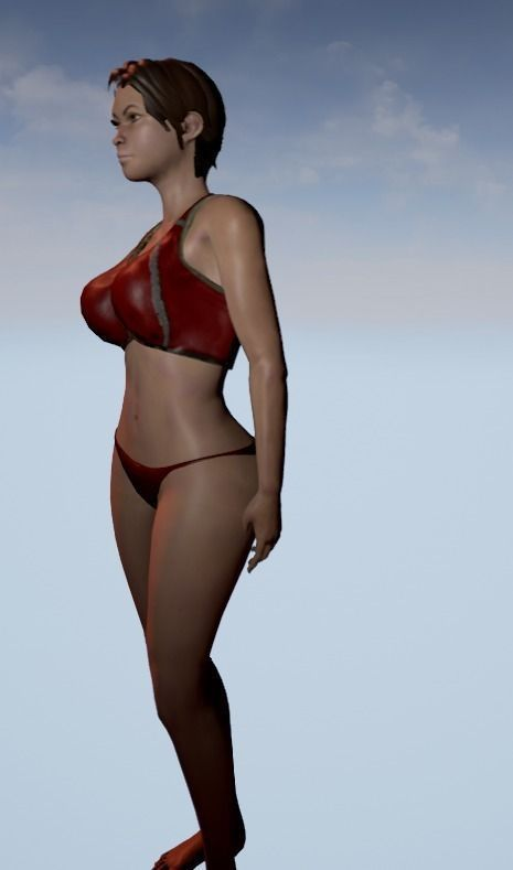 sexy female character animated and rigged ue4 compatible 3d model rigged  animated ...