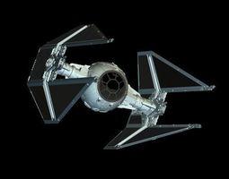 tie interceptor 3d model max obj 3ds mtl