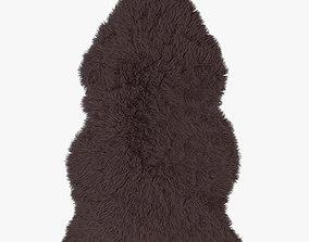 Artificial Sheepskin brown 3D model