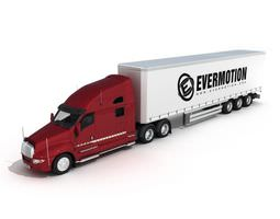 Vehicle Red Trusk 3D model