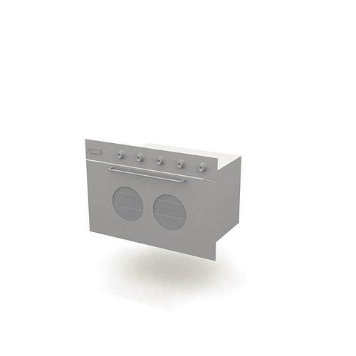 modern stainless oven 3d model  1