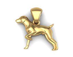 3d printable model dog animal pendants