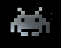 Classic Space Invader 3D Model