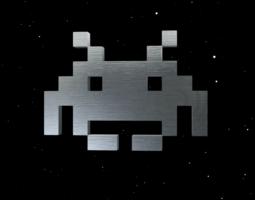 classic space invader 3d model obj 3ds