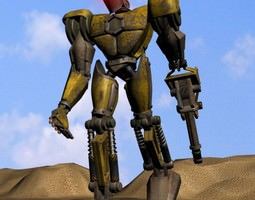 Sand Marauder Robot Character Rigged 3D Model