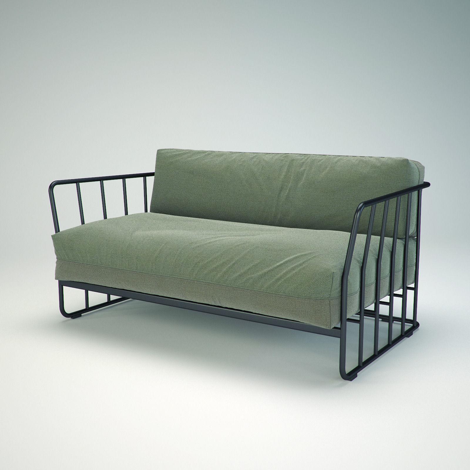 Bla Station Code 27 sofa set 3D model