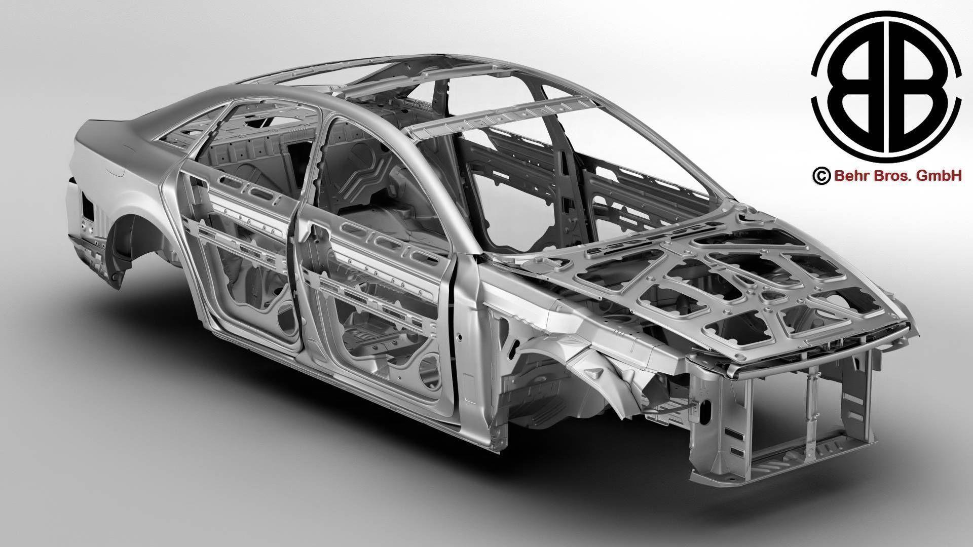 Generic Car Body in white | 3D model