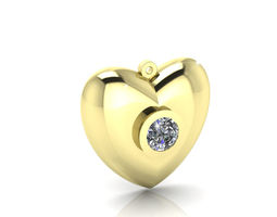 golden heart pendants 3d model stl 3dm