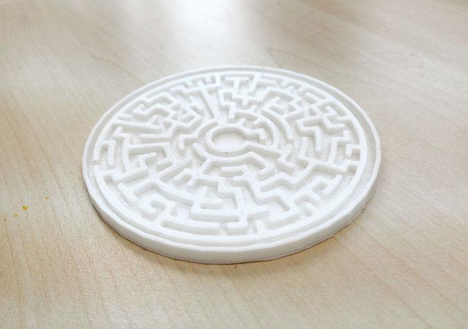 maze coaster 3d model stl 1