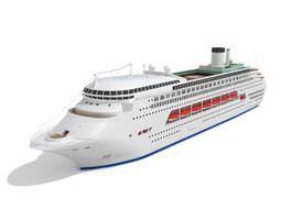 luxury cruise ship 3d