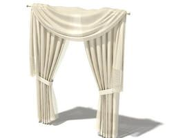 Draperies With Swag Valance 3D model