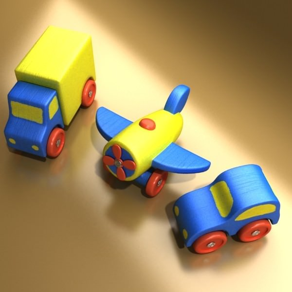toy cars and trucks. Wooden Toy Car Truck 3d Model Max Obj 3ds Fbx Mtl Mat 5 Cars And Trucks