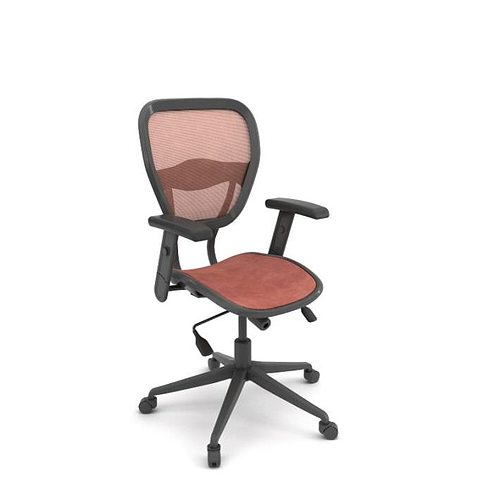 ergomatic adjustable office chair 3d model obj 1