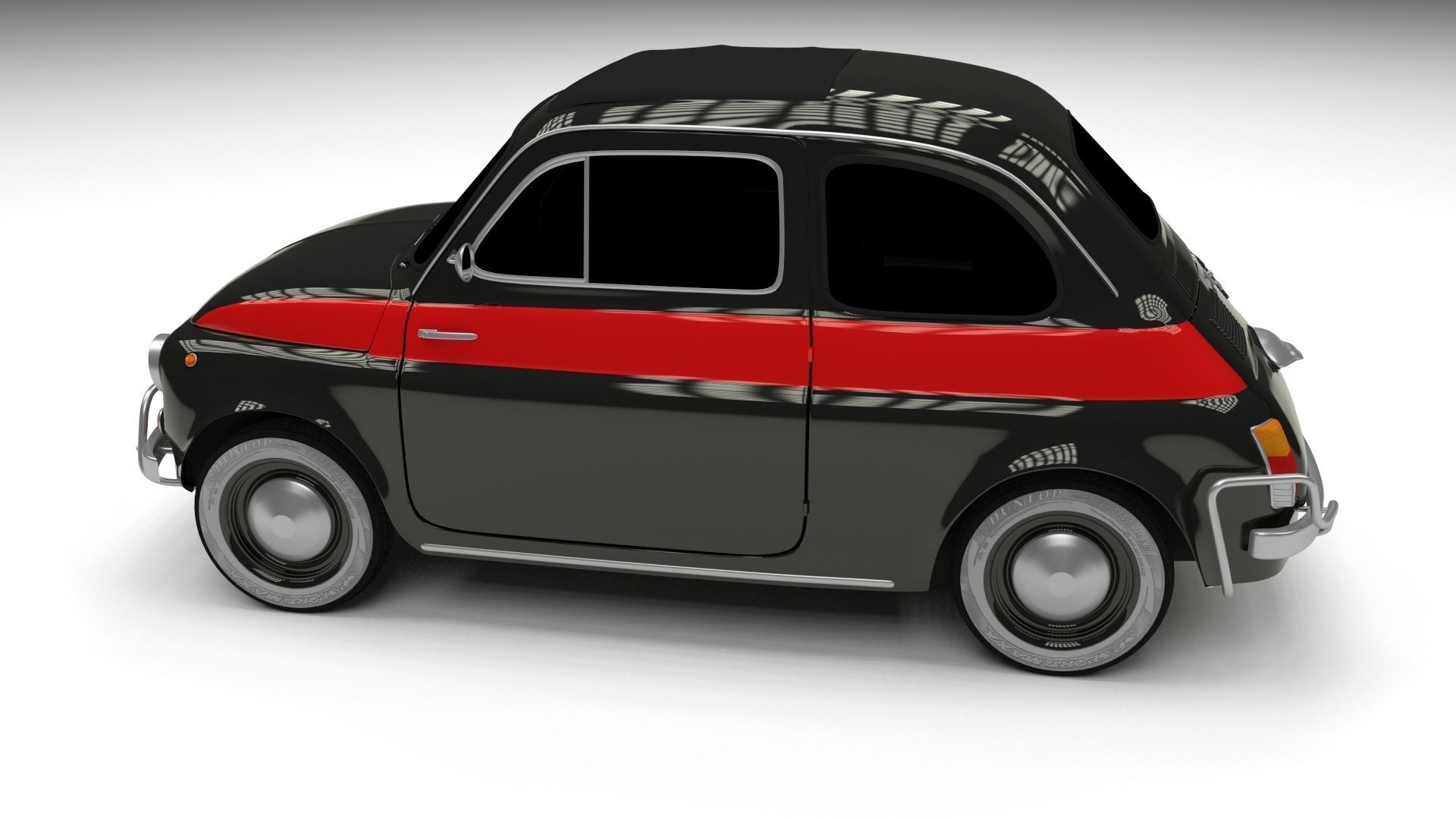 fiat 500 nuova sport 1958 hdri 3d model obj fbx stl blend dae. Black Bedroom Furniture Sets. Home Design Ideas