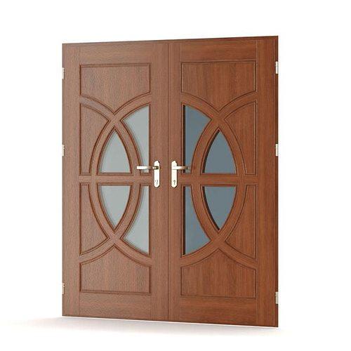 Asian style front door 3d model obj for Door 3d model