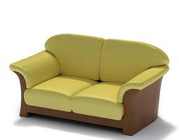 Small Classic Sofa 3D