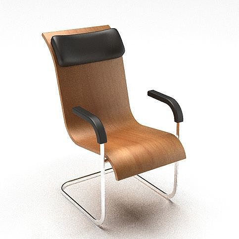 Wooden Office Chair Model