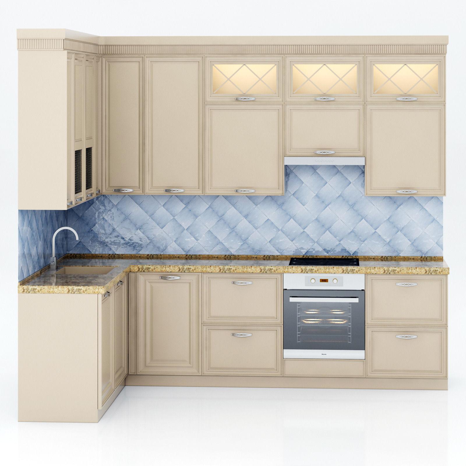Great ... Kitchen Set 3d Model Max Obj Fbx Mtl 2 ...