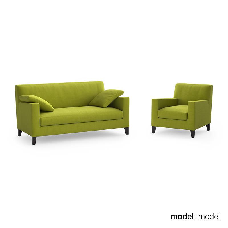 ligne roset citta sofa and armchair free 3d model max obj. Black Bedroom Furniture Sets. Home Design Ideas