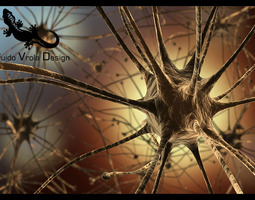 neurons 3d model obj 3ds fbx blend