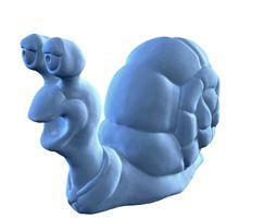 3d printable model hi-poly snail figurine