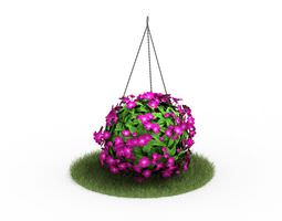 Hanging Pink Flowers 3D