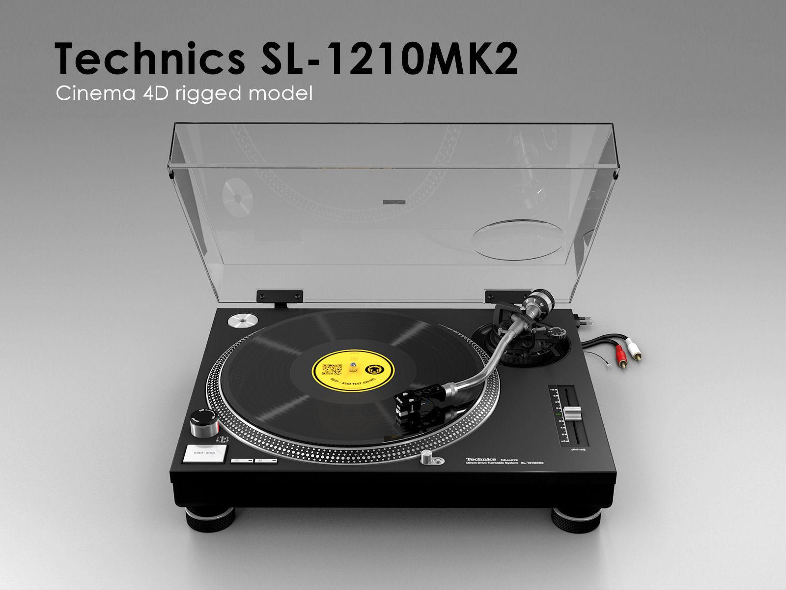 Technics SL-1210MK2 - Rigged