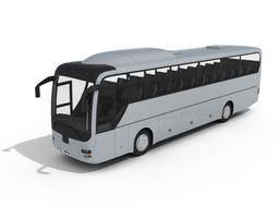 white coach bus 3d