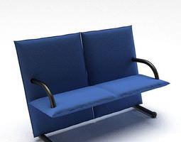 Blue Love Seat 3D