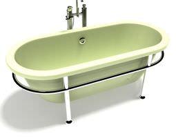 3d model old fashioned bath tub