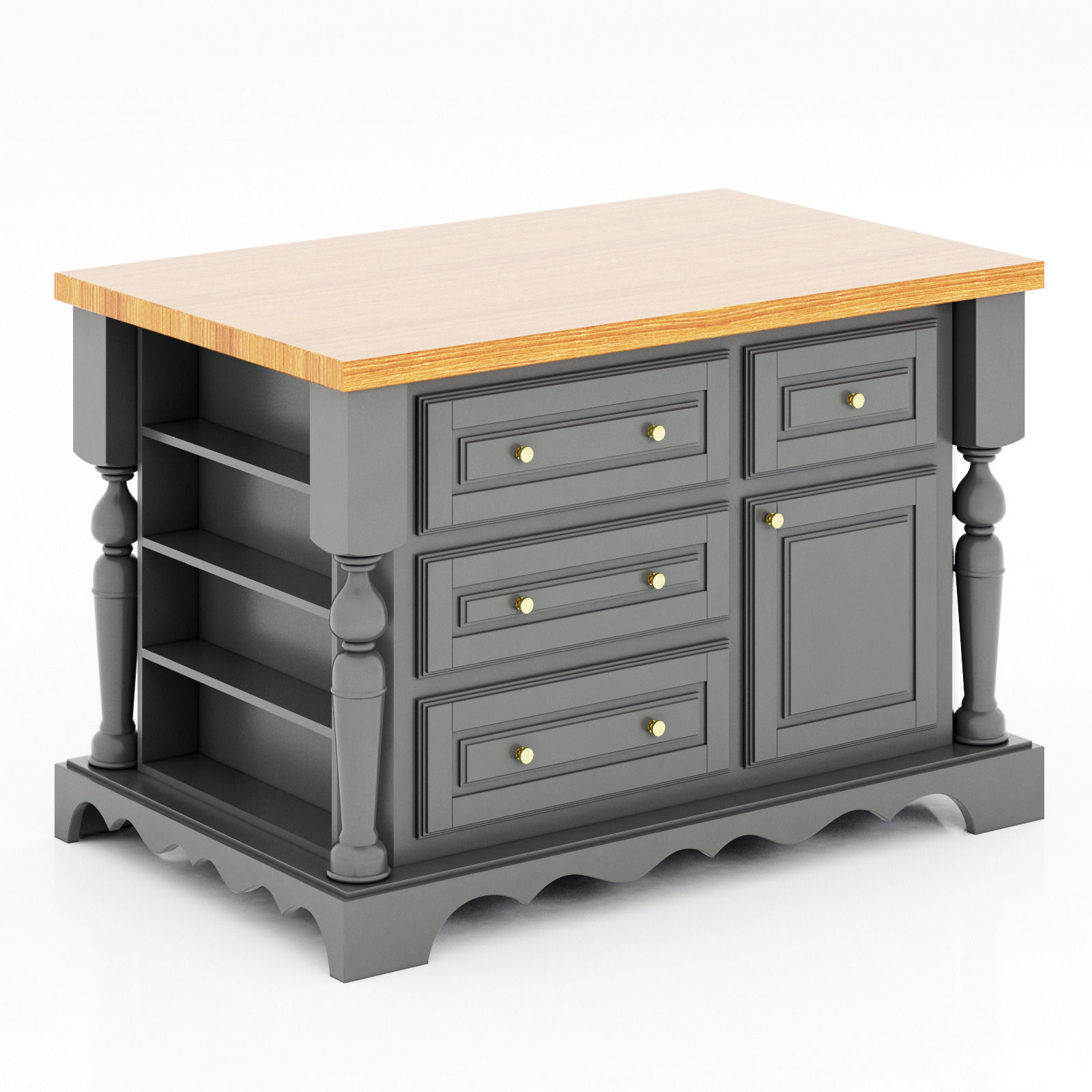 Lyn Design Kitchen Island Model