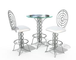 3d modern bistro table set